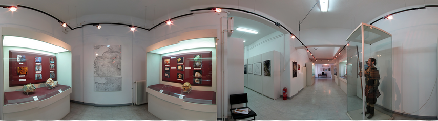Panoramic View of the Exhibition concerning the Paleoathropological findings from Mani Peninsula