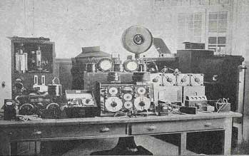 Collection of telegraphy instruments by Telefunken